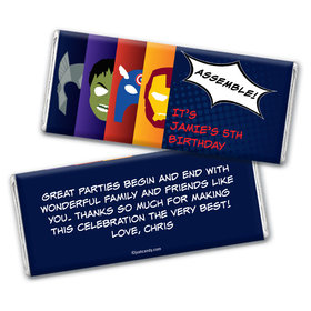 Call All Heroes Personalized Candy Bar - Wrapper Only