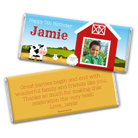 Barnyard Bash Personalized Candy Bar - Wrapper Only
