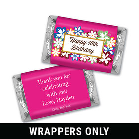 Tropical Flowers Personalized Miniature Wrappers