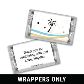 Beachy Birthday Personalized Miniature Wrappers