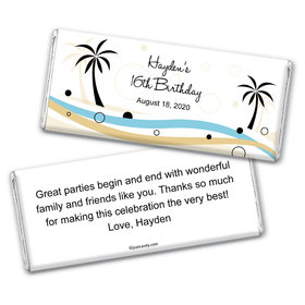 Beachy Birthday Personalized Candy Bar - Wrapper Only