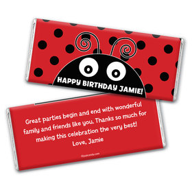 Lucky Ladybug Personalized Candy Bar - Wrapper Only