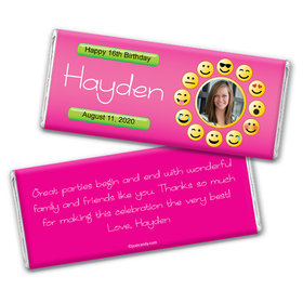 Smiley Personalized Candy Bar - Wrapper Only
