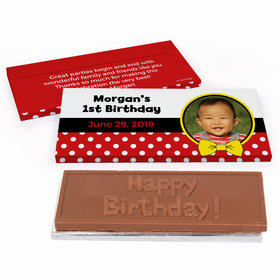 Deluxe Personalized Mickey Birthday Chocolate Bar in Gift Box