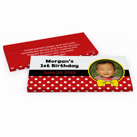 Deluxe Personalized Mickey Birthday Hershey's Chocolate Bar in Gift Box