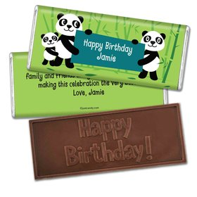 Birthday Personalized Embossed Chocolate Bar Panda