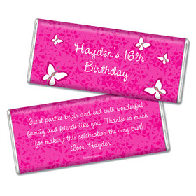 Birthday Personalized Chocolate Bar Butterfly Garden