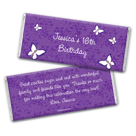 Butterfly Garden Personalized Candy Bar - Wrapper Only