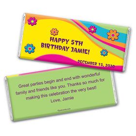 Bright Birthday Personalized Candy Bar - Wrapper Only