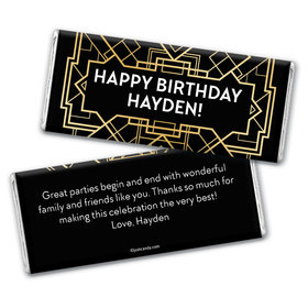 Dapper Wrapper Personalized Candy Bar - Wrapper Only