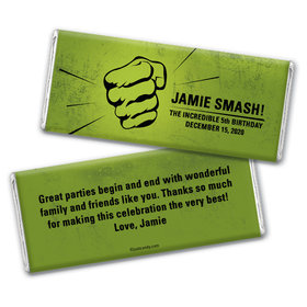 Green Machine Personalized Candy Bar - Wrapper Only