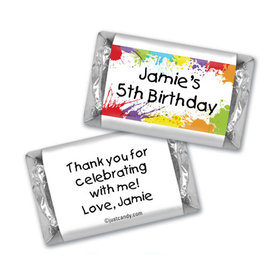 Birthday Personalized HERSHEY'S MINIATURES Wrappers Painter's Palette