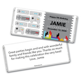Games Galore Personalized Candy Bar - Wrapper Only