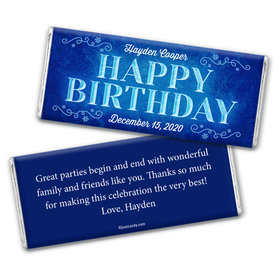 Icy Blast Personalized Candy Bar - Wrapper Only