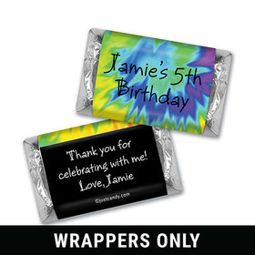 Birthday Personalized HERSHEY'S MINIATURES Wrappers Groovy Tie Die