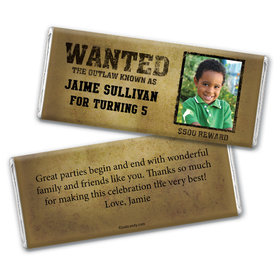 Wanted Personalized Candy Bar - Wrapper Only
