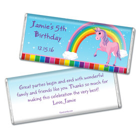 Birthday Personalized Chocolate Bar My Little Rainbow Unicorn