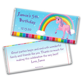 My Little Unicorn Personalized Candy Bar - Wrapper Only