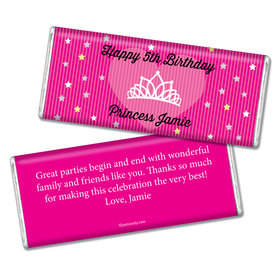 Birthday Personalized Chocolate Bar Princess Crown