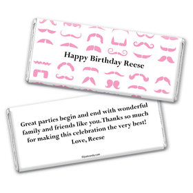 Mustache Mania Personalized Candy Bar - Wrapper Only