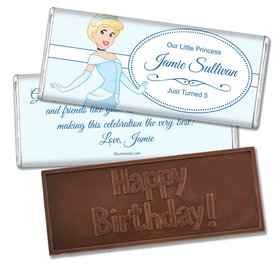 Birthday Personalized Embossed Chocolate Bar A Real Cinderella