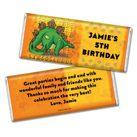 Birthday Personalized Chocolate Bar Jurassic Dinosaur