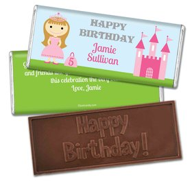 Birthday Personalized Embossed Chocolate Bar Renaissance Kingdom Princess