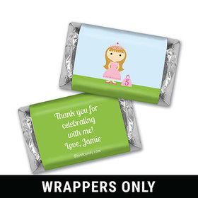 Birthday Personalized HERSHEY'S MINIATURES Wrappers Renaissance Kingdom Princess