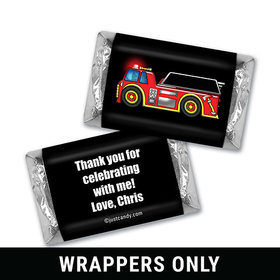 Personalized Birthday Fire Truck Mini Wrappers