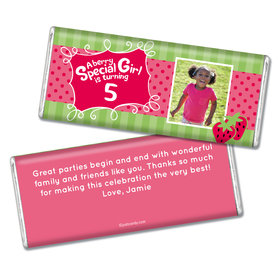 Birthday Personalized Chocolate Bar Strawberry Shortcake Berry Inspired