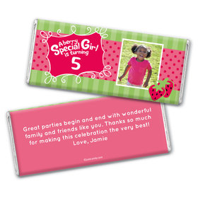 Berry Bitty Girl Personalized Candy Bar - Wrapper Only