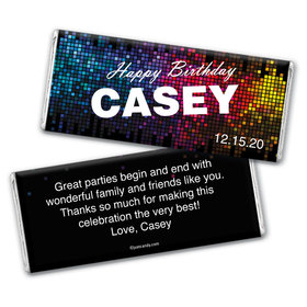 Techno Rhythm Personalized Candy Bar - Wrapper Only