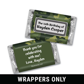 Birthday Personalized HERSHEY'S MINIATURES Wrappers Duck Dynasty Camo