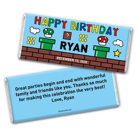 Let's-a Party Personalized Candy Bar - Wrapper Only