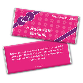 Hello Birthday Personalized Candy Bar - Wrapper Only