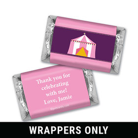 Birthday Personalized HERSHEY'S MINIATURES Wrappers Circus Party