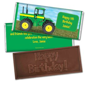 Birthday Personalized Embossed Chocolate Bar Oh Deere! Farm Tractor