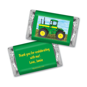 Birthday Personalized HERSHEY'S MINIATURES Wrappers Oh Deere! Farm Tractor