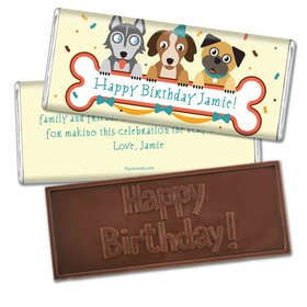 Birthday Personalized Embossed Chocolate Bar Secret Pets Puppy Love