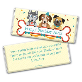 Puppy Love Personalized Candy Bar - Wrapper Only