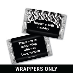 Zebra Dazzle Personalized Miniature Wrappers