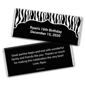 Zebra Dazzle Personalized Candy Bar - Wrapper Only