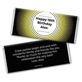 Birthday Burst Personalized Candy Bar - Wrapper Only