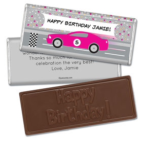 Birthday Personalized Embossed Chocolate Bar Race Car Party