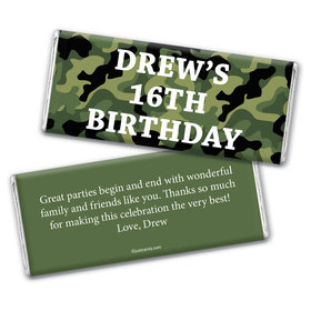 Camo Celebration Personalized Candy Bar - Wrapper Only