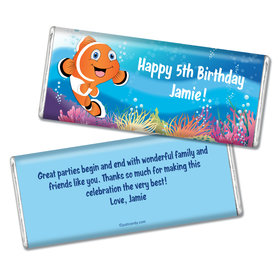 Birthday Personalized Chocolate Bar Finding a Clownfish for Dory