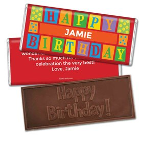 Birthday Personalized Embossed Chocolate Bar Sesame Street