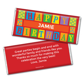 Birthday Personalized Chocolate Bar Sesame Street