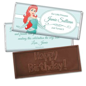 Birthday Personalized Embossed Chocolate Bar Mermaid Princess