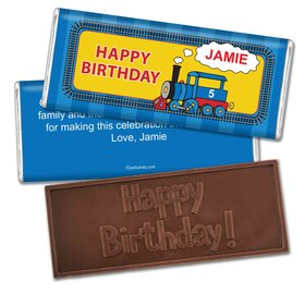 Birthday Personalized Embossed Chocolate Bar Train for Thomas
